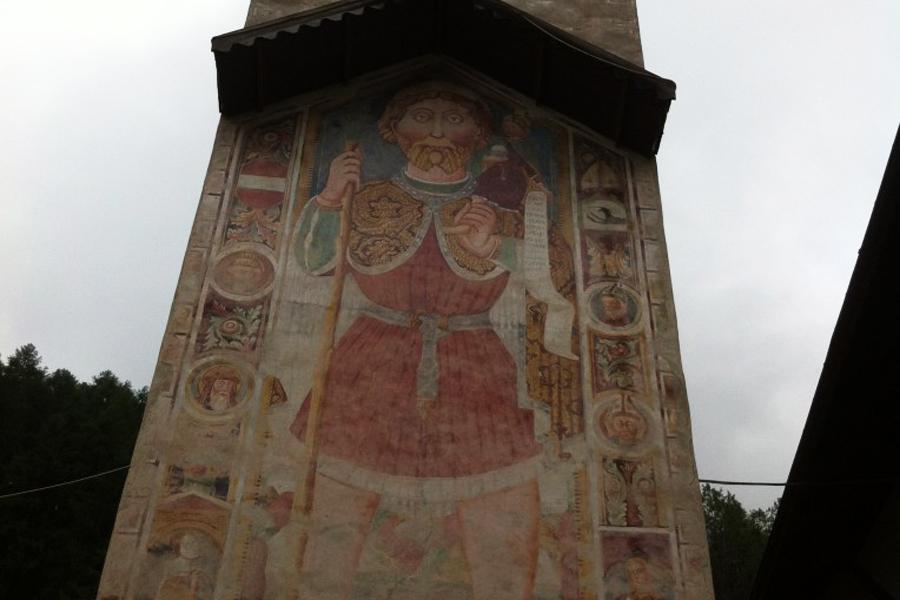 San Cristoforo sul campanile di Pejo