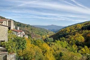 la valle del Casentino da Raggiolo