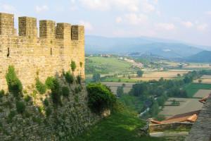 la valle del Casentino dal castello di Poppi