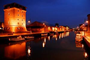 porto canale di notte
