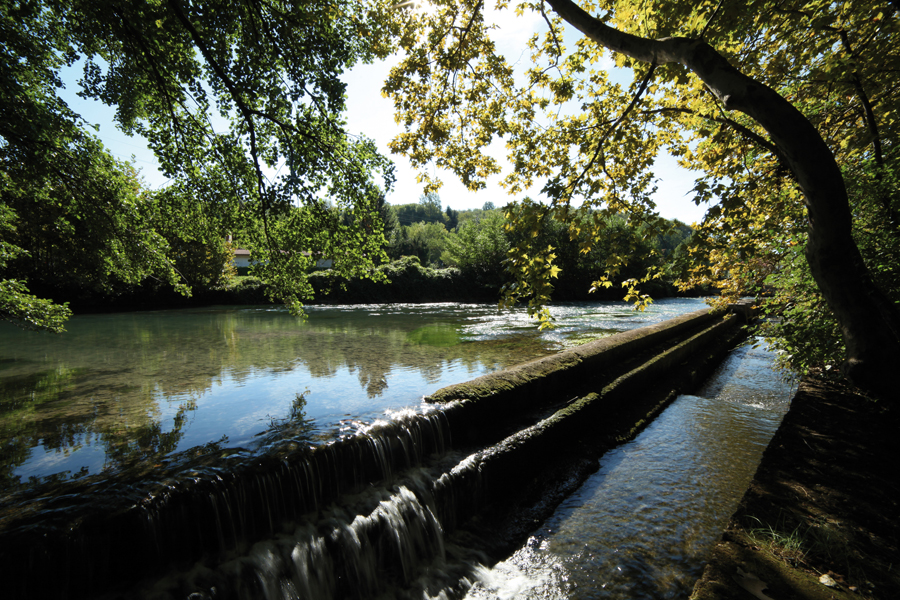 presa sul fiume Ledra a San Floreano di Buja [foto Graziano Soravito]