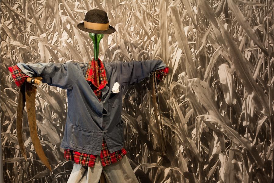 lo spaventapassari del Museo nella stanza dei Selvatici