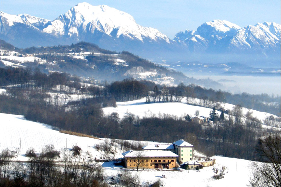 villa Avogadro degli Azioni a Seravella sede del Museo etnografico della provincia di Belluno